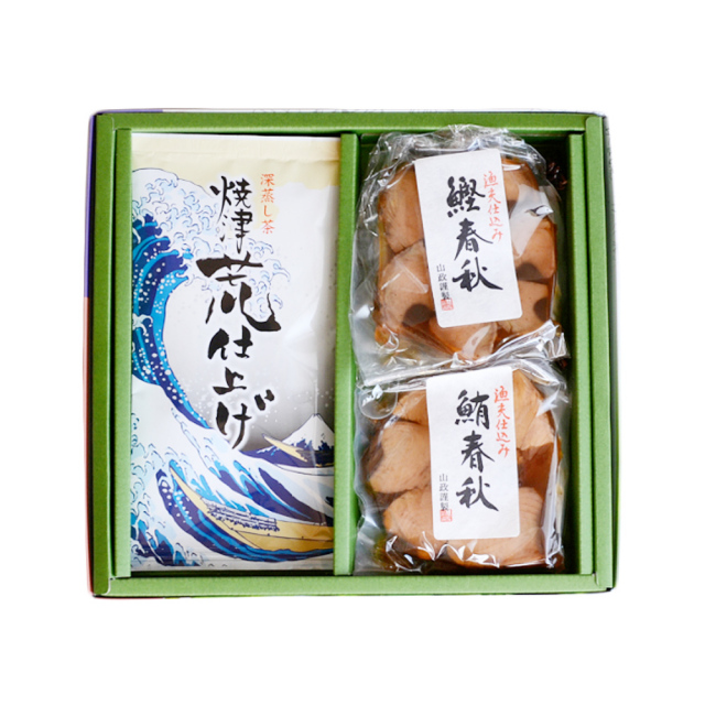 焼津荒仕上げ(やいづあらしあげ)/100g・角煮(鮪春秋・鰹春秋×各1個)セット