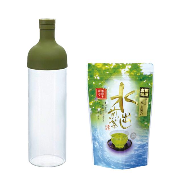 フィルターインボトル(簡単冷茶ボトル)、水出し煎茶ティーバッグセット