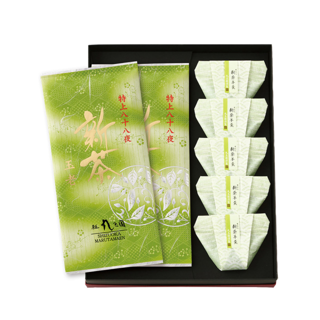 【新茶】特上八十八夜新茶(90g×2本)・新茶ようかん(5個)セット【5月上旬発送予定】