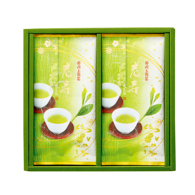上掛川深蒸し茶 上煎茶 老寿(ろうじゅ)/90g×2本 箱入