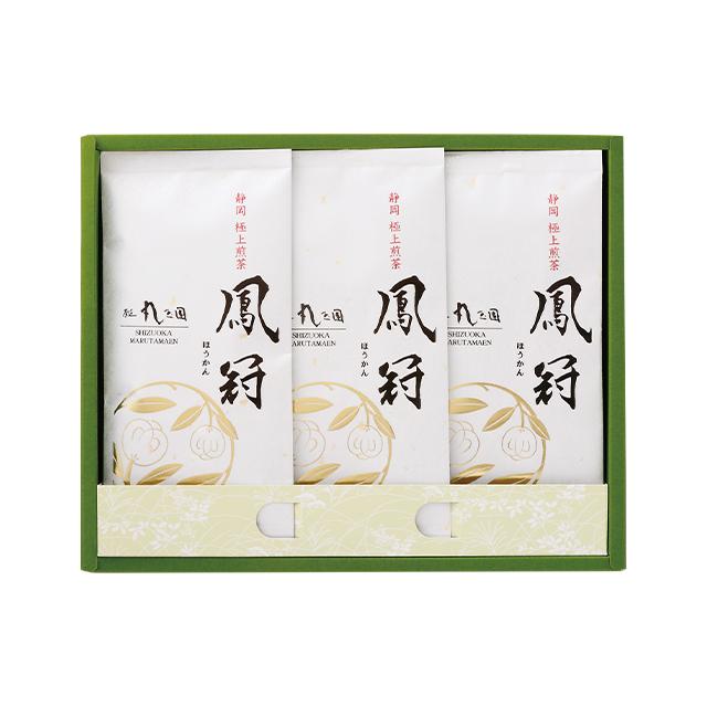 【茶の実紋シリーズ】 鳳冠(ほうかん)/100g×3本 箱入【緑茶 贈り物】