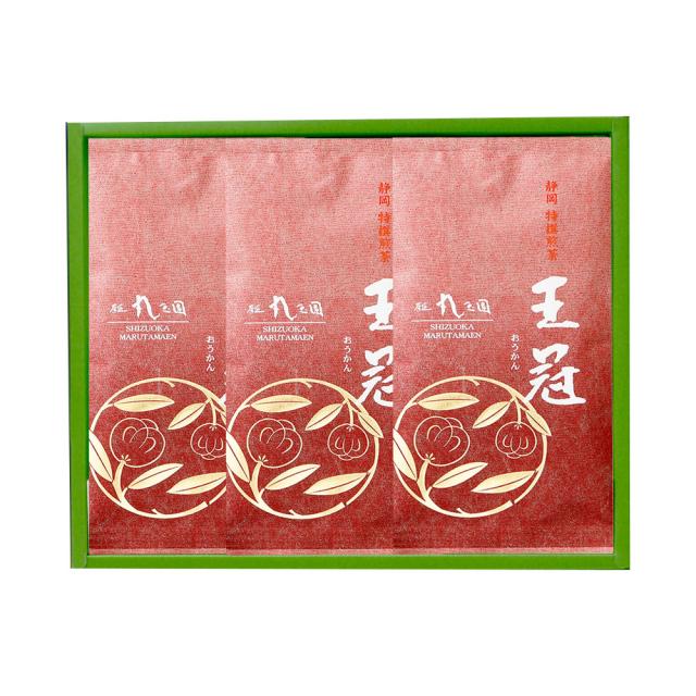 【茶の実紋シリーズ】 王冠(おうかん)/100g×3本 箱入