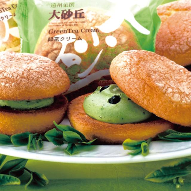 ブッセ(たこまん 大砂丘)/6個セット箱入(緑茶クリーム×6)