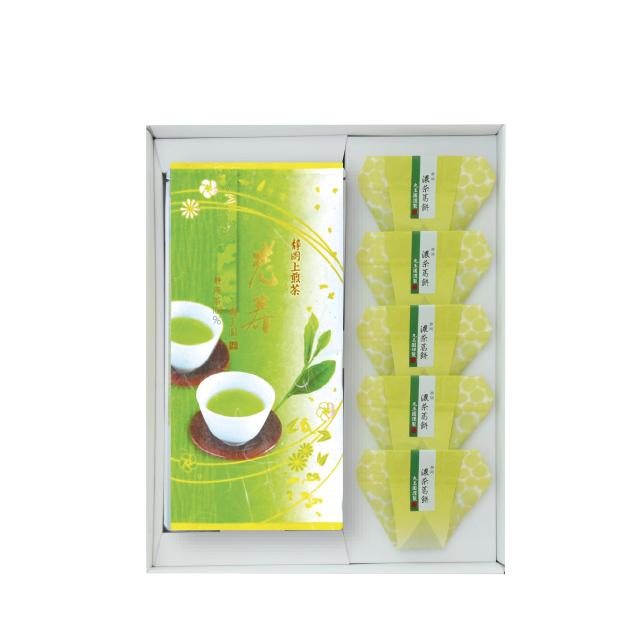 老寿・濃茶葛餅(茶100g・葛餅5個)