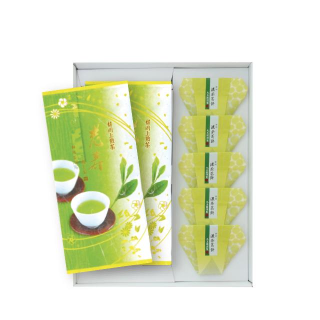 老寿・濃茶葛餅(茶100g×2本・葛餅5個)