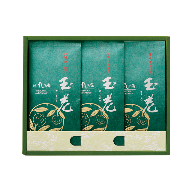 【茶の実紋シリーズ】 玉老(ぎょくろう)/100g×3本 箱入