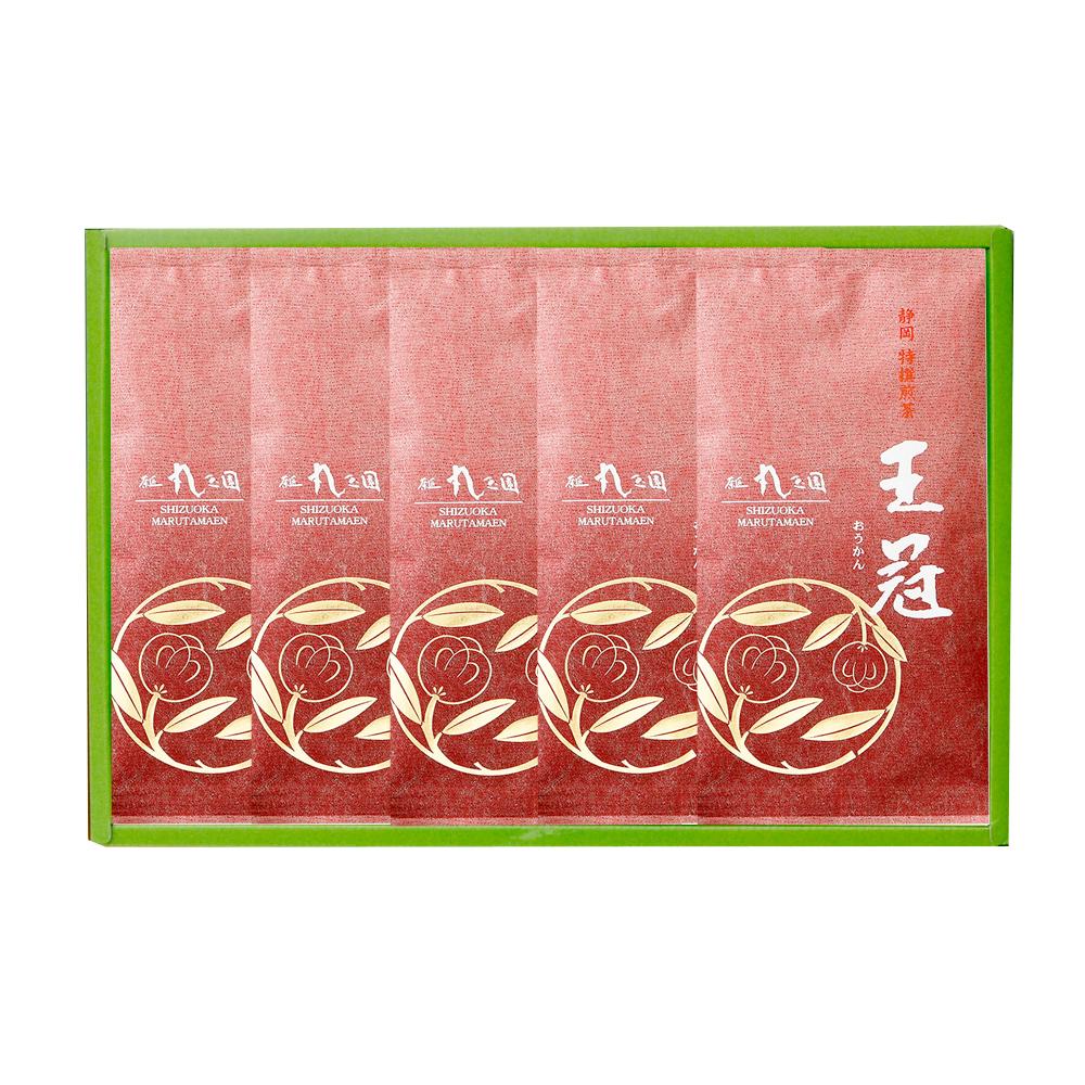 【茶の実紋シリーズ】 王冠(おうかん)/100g×5本 箱入
