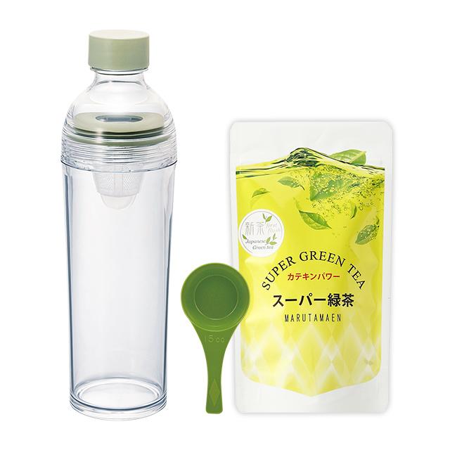 ポータルブルボトルとスーパー緑茶のセット