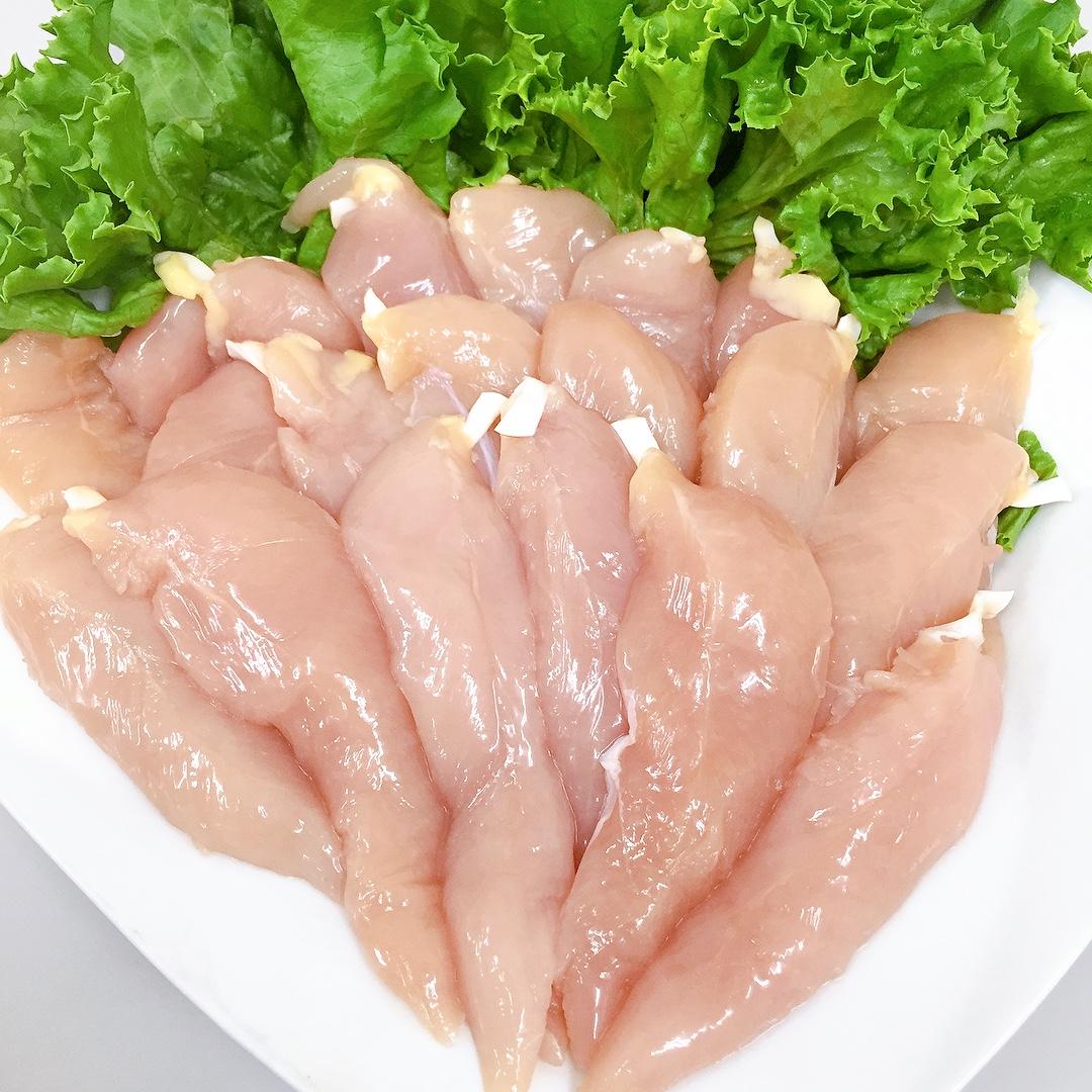 (チルド)三河赤鶏ささみ 1kg 約20本入り