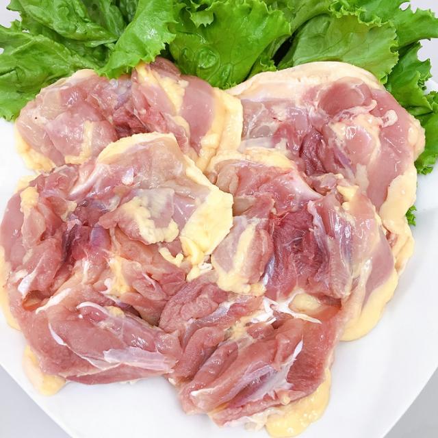 (チルド)三河赤鶏もも肉 1kg 約4枚入り