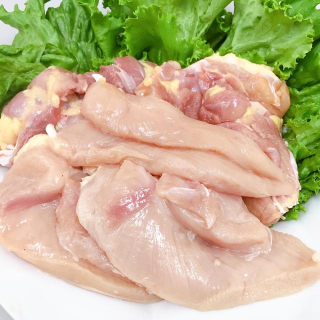 (チルド)三河赤鶏正肉セット(むね2枚、もも2枚、ささみ2本) 約1kg