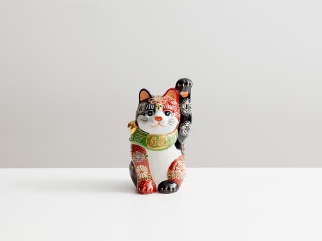 4号招き猫 赤黒華盛