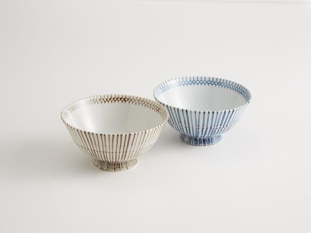 九谷焼 和陶房 組飯碗 相蕎麦手