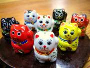 九谷焼 豆招き猫 仲良し8