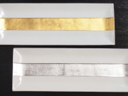 九谷焼 和陶房 長角皿 銀箔