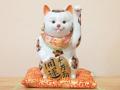 九谷焼 陶幸 10号小判招き猫 金三毛