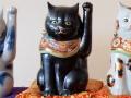 九谷焼 陶幸 10号招き猫 黒ヌリ