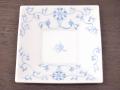 九谷焼 和陶房 3.5号角皿/小皿 豆皿/  染付唐草  辺10.5×高2.3cm