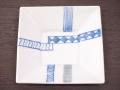 九谷焼 和陶房 3.5号角皿/小皿 豆皿/  江戸紋様  辺10.5×高2.3cm