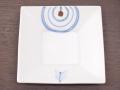 九谷焼 和陶房 3.5号角皿/小皿 豆皿/  的矢文  辺10.5×高2.3cm