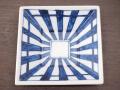 九谷焼 和陶房 3.5号角皿/小皿 豆皿/  染付垣根文  辺10.5×高2.3cm