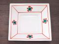 九谷焼 和陶房 3.5号角皿/小皿 豆皿/  梅文  辺10.5×高2.3cm