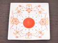 九谷焼 和陶房 3.5号角皿/小皿 豆皿/  瓔珞紋  辺10.5×高2.3cm