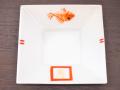 九谷焼 和陶房 3.5号角皿/小皿 豆皿/  鯛吉  辺10.5×高2.3cm