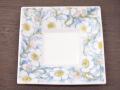 九谷焼 和陶房 3.5号角皿/小皿 豆皿/  染付花文  辺10.5×高2.3cm