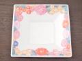 九谷焼 和陶房 3.5号角皿/小皿 豆皿/  青花詰  辺10.5×高2.3cm