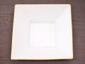 九谷焼 和陶房 3.5号角皿/小皿 豆皿/  渕金箔  辺10.5×高2.3cm