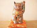 九谷焼 7号招き猫 細描鹿の子盛