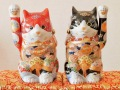 九谷焼招き猫,招き猫宝船,九谷焼の招き猫,九谷焼の宝船招き猫,宝船の招き猫