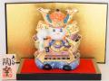 九谷焼 4.5号武者人形 牡丹 盛