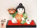 九谷焼 5号獅子舞人形 盛