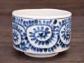 九谷焼 和陶房 独楽形小鉢 タコ唐草 染付