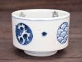 九谷焼 和陶房 独楽形小鉢 丸紋 染付