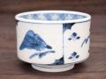 九谷焼 和陶房 独楽形小鉢 割取山水 染付
