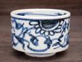 九谷焼 和陶房 独楽形小鉢 安南手 染付