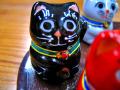 豆招き猫 黒ヌリ