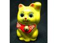 九谷焼 2号招き猫 黄ヌリ