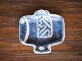 豆皿 小槌 染付小槌 /小皿 豆皿 吉祥紋古典絵変り/九谷焼 和陶房 /幅8×奥7.8×高1.2cm