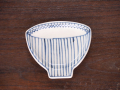 豆皿 飯碗 染付麦藁 /小皿 豆皿 吉祥紋古典絵変り/九谷焼 和陶房/幅9.6×奥8.3×高1.2cm