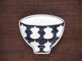 豆皿 飯碗 染付瓢箪 /小皿 豆皿 吉祥紋古典絵変り/九谷焼 和陶房/幅9.6×奥8.3×高1.2cm