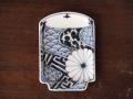 豆皿 湯呑 染付祥瑞 /小皿 豆皿 吉祥紋古典絵変り/九谷焼 和陶房/幅7.2×奥10.3×高1.2cm