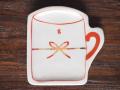 豆皿 カップ 赤絵結び /小皿 豆皿 吉祥紋古典絵変り/九谷焼 和陶房/幅8.7×奥9×高1.2cm