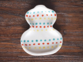 豆皿 瓢箪 色絵点点 /小皿 豆皿 吉祥紋古典絵変り/九谷焼 和陶房/幅6.9×奥8.9×高1.2cm