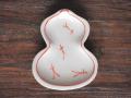 豆皿 瓢箪 赤絵松葉 /小皿 豆皿 吉祥紋古典絵変り/九谷焼 和陶房/幅6.9×奥8.9×高1.2cm