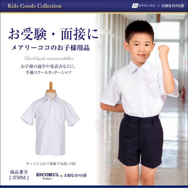 【半袖】お子様用男児スクールカッターシャツ3750M
