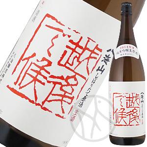 八海山 純米吟醸 しぼりたて生原酒 越後で候(赤) 1800ml